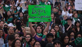 Foto: Miles marchan en calles de Ciudad de México a favor de despenalizar el aborto. Cuartoscuro