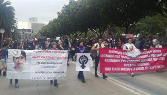 Foto: Colectivos feministas marchan en calles de la Ciudad de México, Noticieros Televisa/Heatzi Valdez