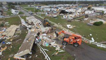 """Foto: Cientos de casas quedaron destrozadas en Carolina del Norte por el huracán """"Dorian"""". AP"""