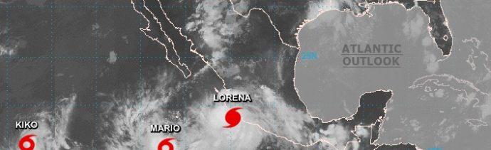 """Foto: """"Lorena"""" se convirtió en huracán en el Pacifico mexicano. NOAA"""