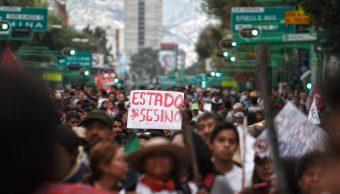 Foto: Miles marchan de Tlatelolco al Zócalo para conmemorar el 50 aniversario de la Matanza del 2 de Octubre de 1968. Cuartoscuro/Archivo