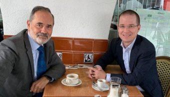 Foto: El senador panista Gustavo Madero compartió la imagen junto a Ricardo Anaya. Instagram/gustavomadero