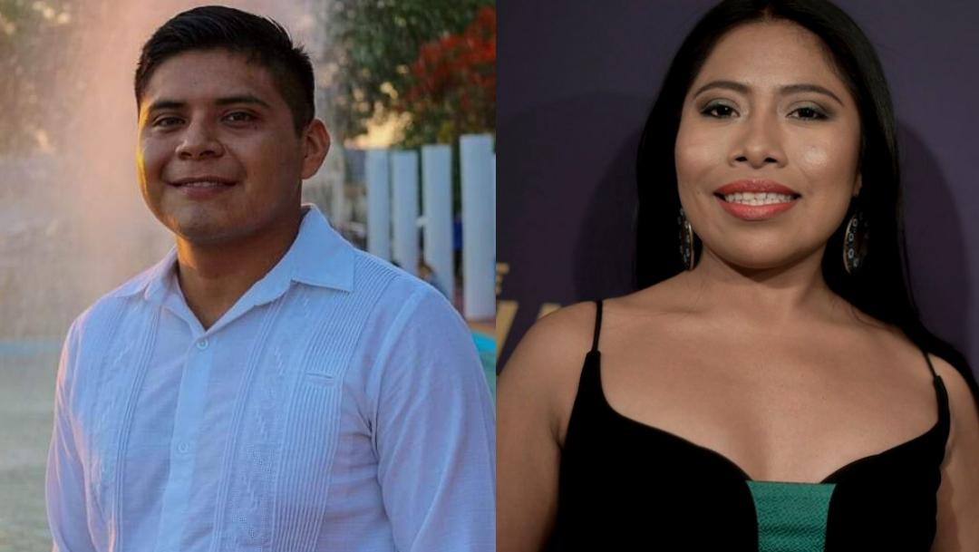 Foto:Francisco Cano Ail y Yalitza Aparicio. 30 Septiembre 2019