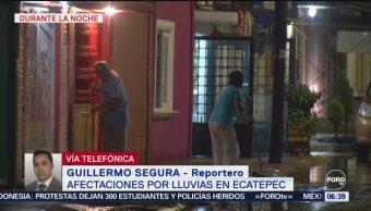Fuerte lluvia en Edomex afecta al menos 15 colonias de Ecatepec