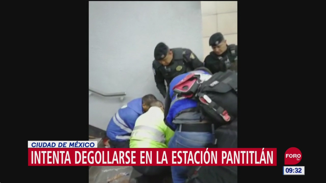 Hombre intenta quitarse la vida con cuchillo en metro Pantitlán