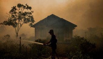 Foto: Incendios forestales en Indonesia, 22 de septiembre de 2019