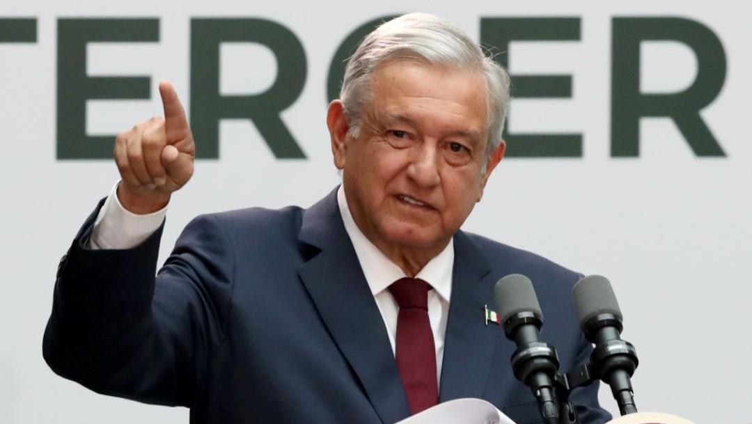 Foto: Andrés Manuel López Obrador, presidente de México, en su mensaje con motivo de su Primer Informe de Gobierno, el 1 de septiembre de 2019 (Reuters)