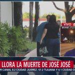 FOTO: Informe desde la funeraria donde serán trasladados los restos de José José, 28 septiembre 2019