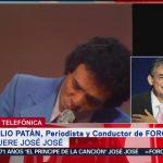 FOTO: José José era un cantante extraordinario, recuerda periodista Julio Patán, 28 septiembre 2019