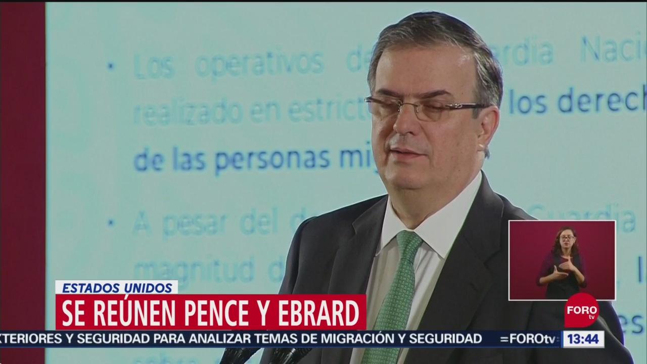 FOTO: Marcelo Ebrard Se Reúne Mike Pence