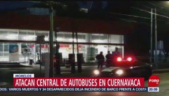 Foto: Matan Cinco Personas Central Autobuses Cuernavaca 2 Septiembre 2019