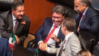 """Imagen: El también coordinador de Morena en el órgano legislativo calificó a la propuesta del PAN como un acto de """"ignorancia jurídica"""", 18 de septiembre de 2019 (Isaac Esquivel /Cuartoscuro.com)"""