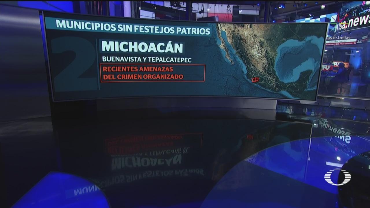 FOTO:Municipios de Puebla, Michoacán y Sonora se quedan sin grito de Independencia, 13 SEPTIEMBRE 2019