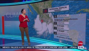 FOTO: Narda se degrada a depresión tropical, 29 septiembre 2019