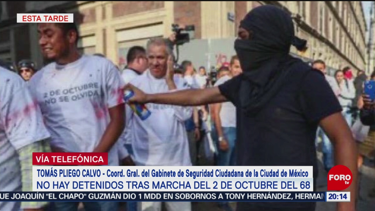 Foto: Detenidos Marcha 2 Octubre Cdmx Hoy 1 Octubre 2019