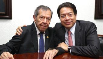 Foto: Porfirio Muñoz Ledo y Mario Delgado, septiembre 2019, Ciudad de México