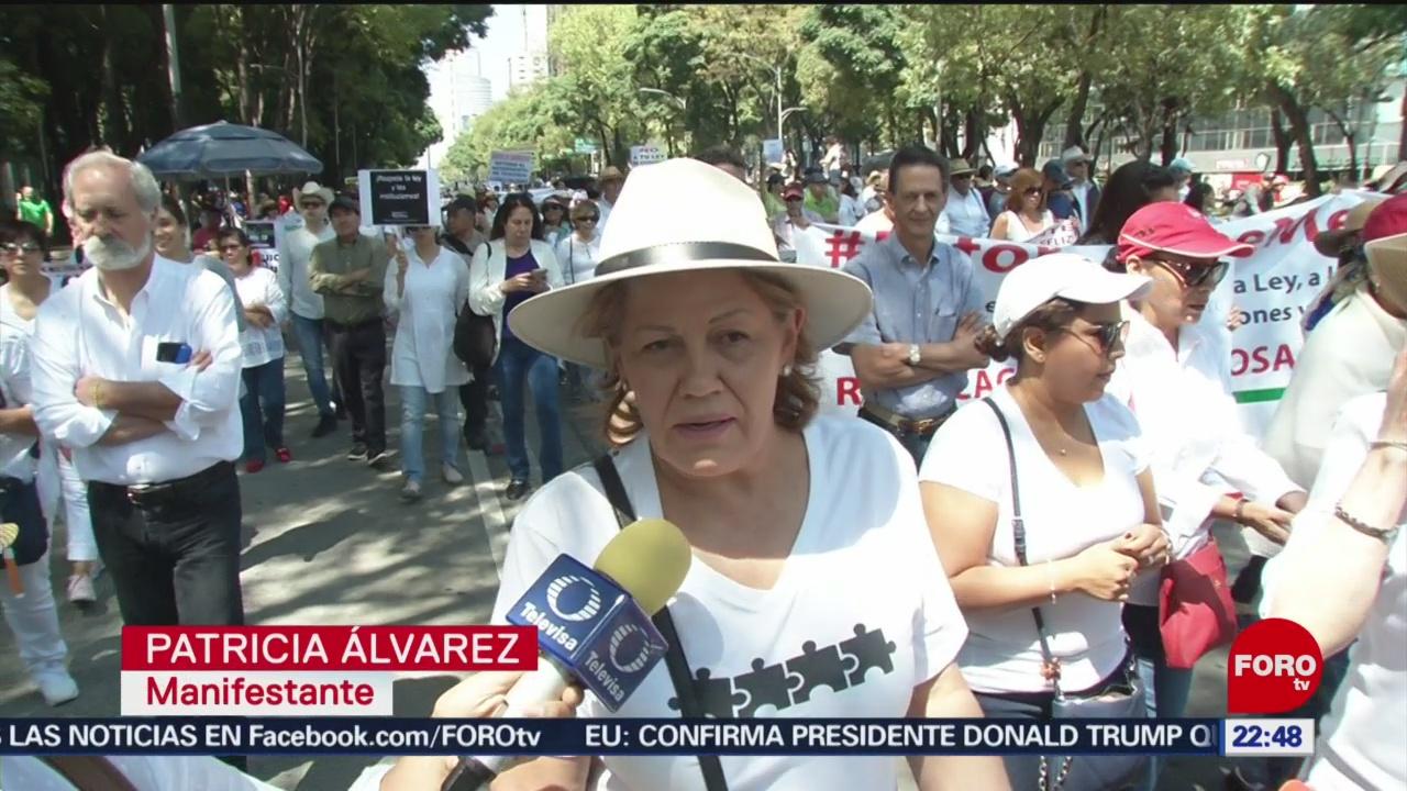 FOTO: Protestan contra Primer Informe de Gobierno de AMLO, 1 septiembre 2019