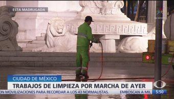 Foto: Realizan Trabajos Limpieza Tras Marcha Ayotzinapa