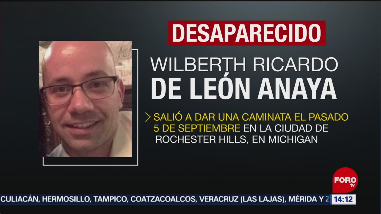 FOTO: Reportan como desaparecido a mexicano en Estados Unidos, 8 septiembre 2019