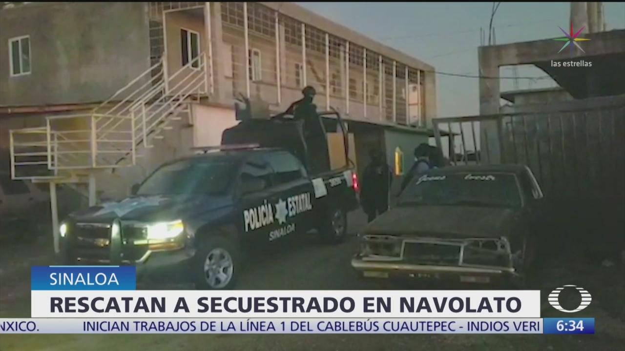 Rescatan a secuestrado en Navolato, Sinaloa