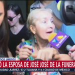 FOTO: Sara, viuda de José José, fue captada a la salida de funeraria, 28 septiembre 2019