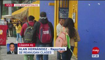 Se reanudan clases tras paro en CCH Azcapotzalco