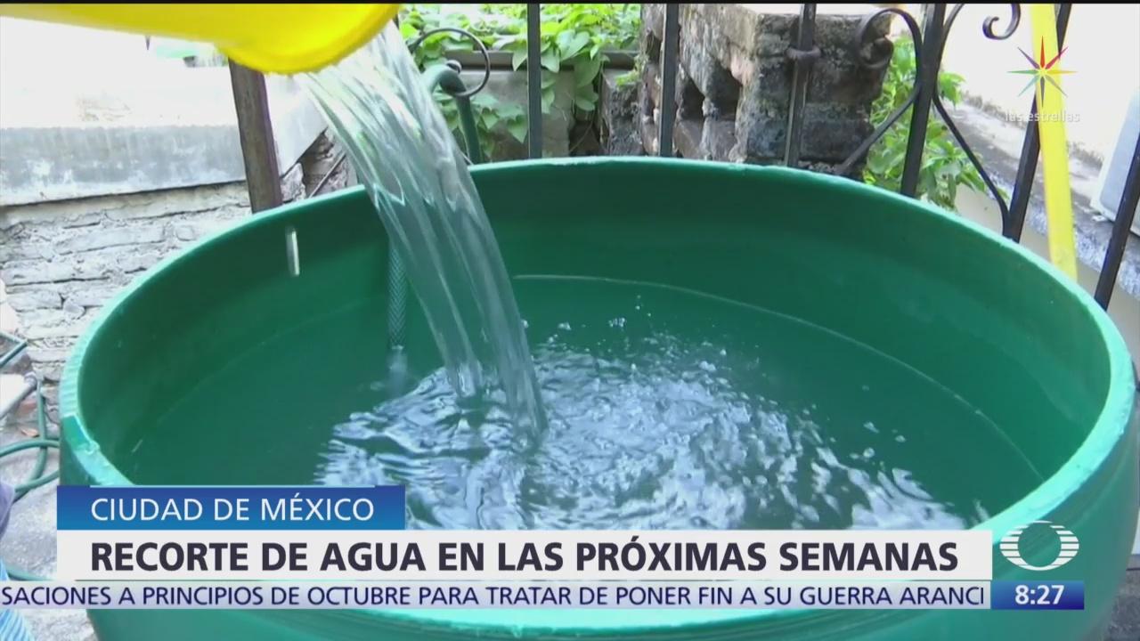 Se recortará suministro de agua en las próximas semanas