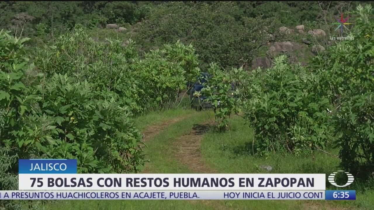 Suman 75 bolsas con restos humanos, descubiertas en Zapopan