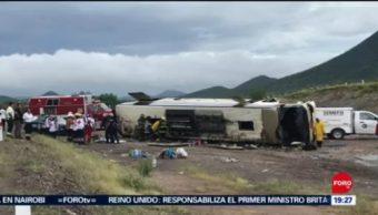 Foto: Muertos Volcadura Autobús Sonora Hoy Guaymas 23 Septiembre 2019