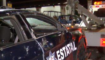 FOTO Pobladores intentan linchar a 5 en Tepetlaoxtoc, Edomex (Noticieros Televisa)