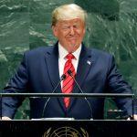 FOTO Trump agradece a AMLO cooperación migratoria, desde Asamblea General de la ONU (AP)