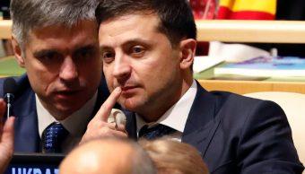 """FOTO Trump divulgará """"transcripción"""" de llamada con líder de Ucrania, Vladimir Zelenski, en la imagen (AP)"""