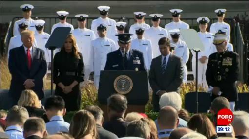 Trump recuerda a víctimas del 11S en el Pentágono