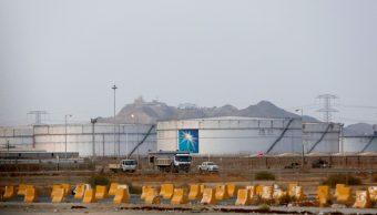 Foto: Tanques de almacenamiento de petróleo en Arabia Saudita, 15 de septiembre de 2019, Arabia Saudita