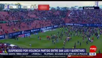 40 heridos, saldo de violencia durante partido Querétaro vs San Luis