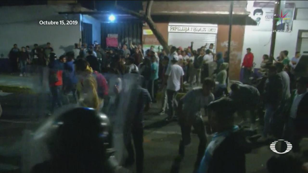 Foto: Abuso Sexual Conflicto Inconformes Policías Iztapalapa 16 Octubre 2019