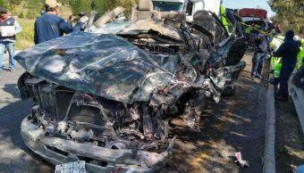 Foto: Según los primeros reportes el accidente ocurrió después de que un vehículo volcó por conducir presuntamente a exceso de velocidad, 5 de octubre de 2019 (Noticieros Televisa)