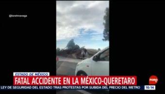 FOTO: Accidente en carretera México-Querétaro deja 6 muertos, 19 octubre 2019