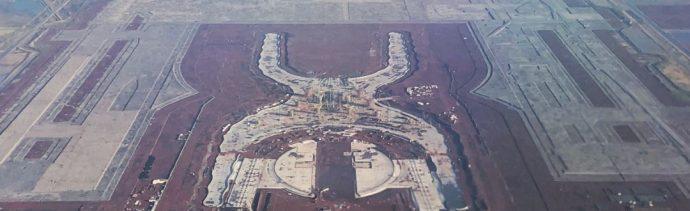 Imagen: Vista aérea de la construcción del Nuevo Aeropuerto Internacional de México, en Texcoco, el 8 de octubre de 2019 (Isaac Esquivel /Cuartoscuro.com)