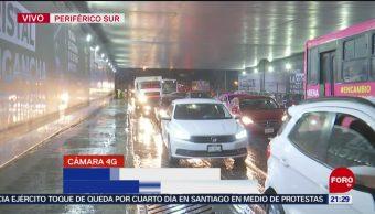 Foto: Inundación Periférico Sur Afectación Vial 22 Octubre 2019