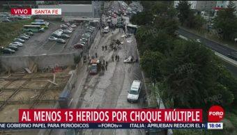 FOTO: Al Menos 15 Heridos Por Choque Múltiple Santa Fe