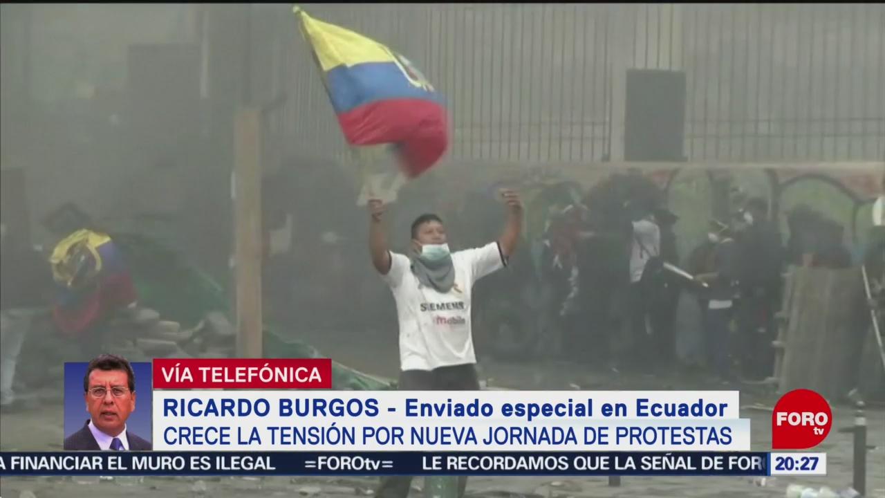 FOTO: Al menos 34 detenidos tras sucesos violentos en Ecuador, 12 octubre 2019