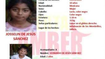 FOTO Alerta Amber por Leonardo y Josselin de Jesús Sánchez (Noticieros Televisa)
