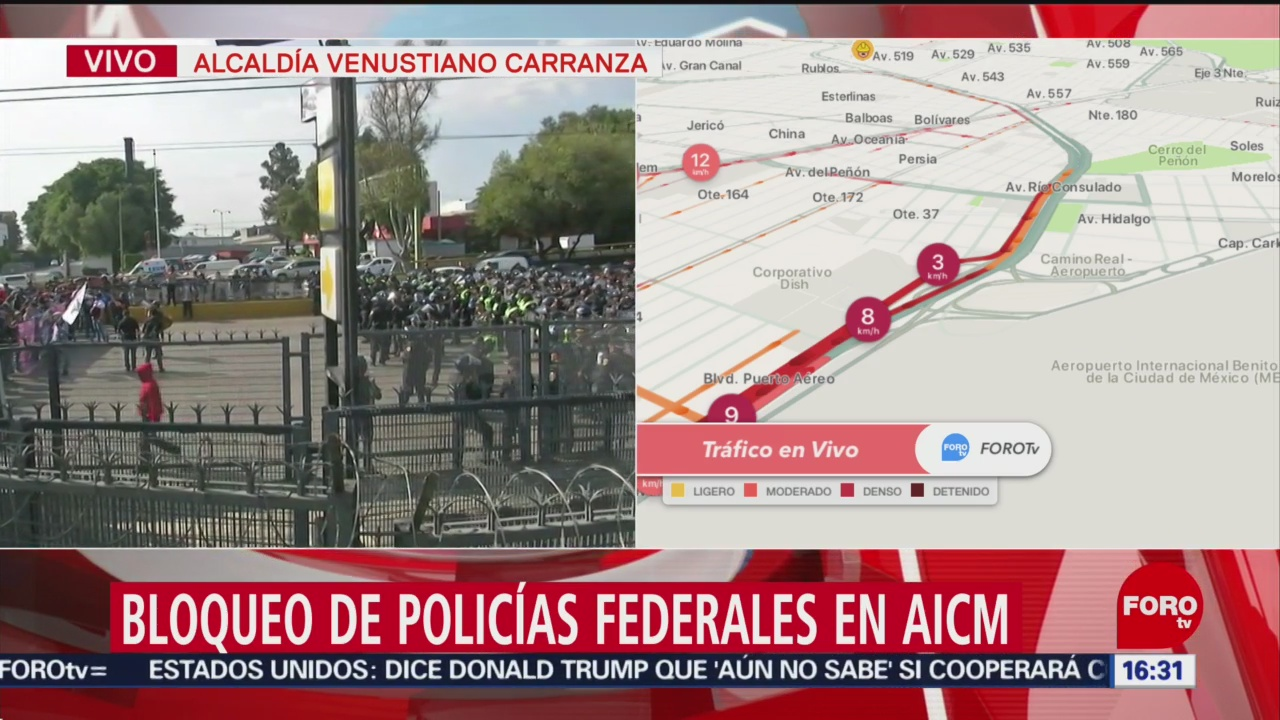 FOTO: Alternativas Viales Para Evitar Bloqueo Policías Federales AICM