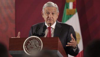 Foto: El presidente de México, Andrés Manuel López Obrador, ofrece una conferencia de prensa desde Palacio Nacional, 16 octubre 2019