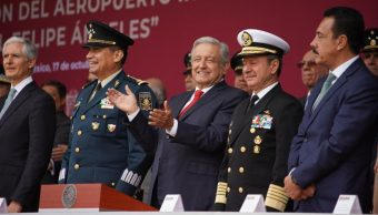 AMLO da inicio a la construcción del Aeropuerto 'General Felipe Ángeles' en Santa Lucía. (Presidencia)