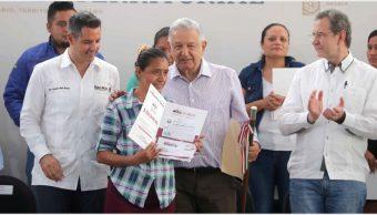 Foto: López Obrador anunció apoyos para escuelas en Oaxaca, 20 de octubre de 2019 (PRESIDENCIA /CUARTOSCURO.COM)