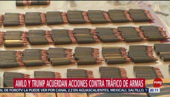 FOTO: AMLO pidió a Trump congelar el tráfico de armas, 19 octubre 2019