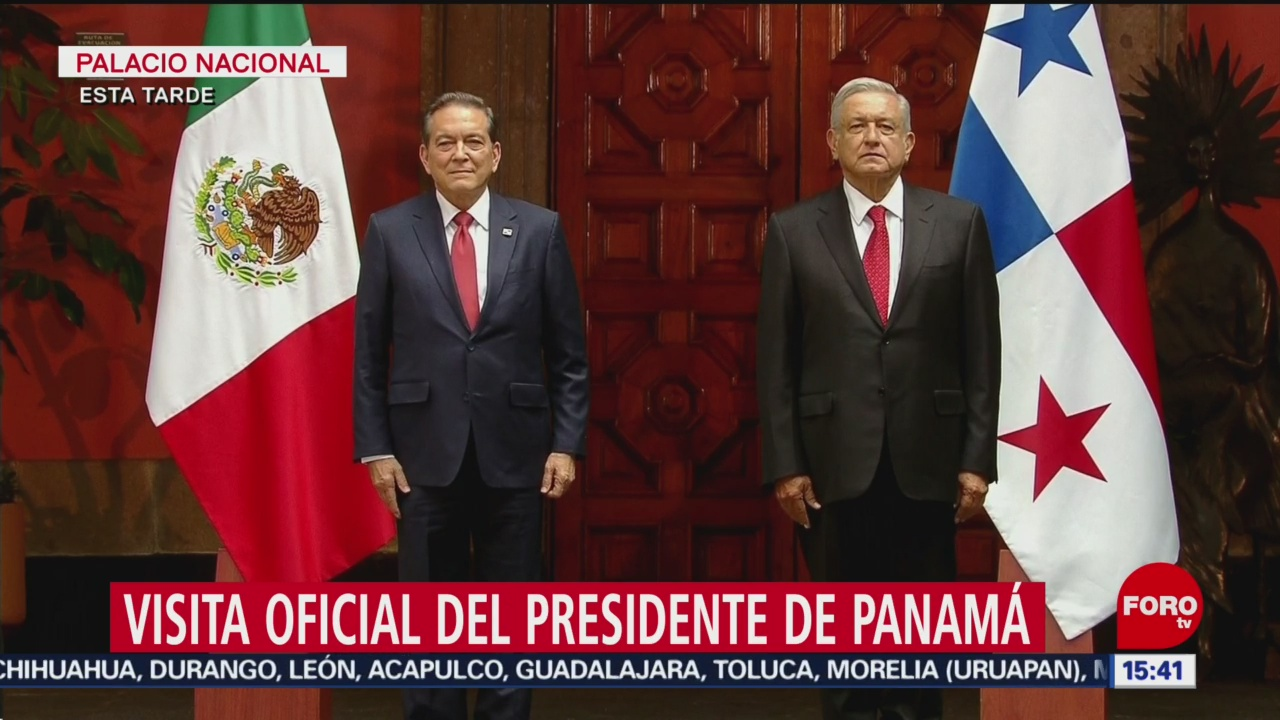 FOTO: AMLO recibe presidente Panamá Palacio Nacional