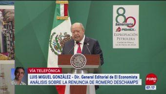 Análisis sobre la renuncia de Carlos Romero Deschamps